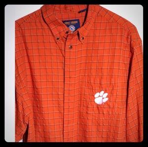 Orange Clemson Button Down Shirt